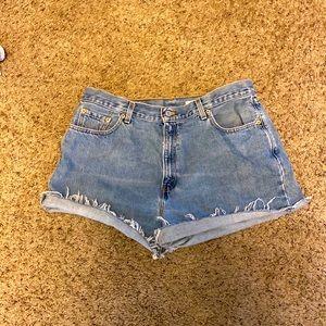 Levi denim shorts size 16